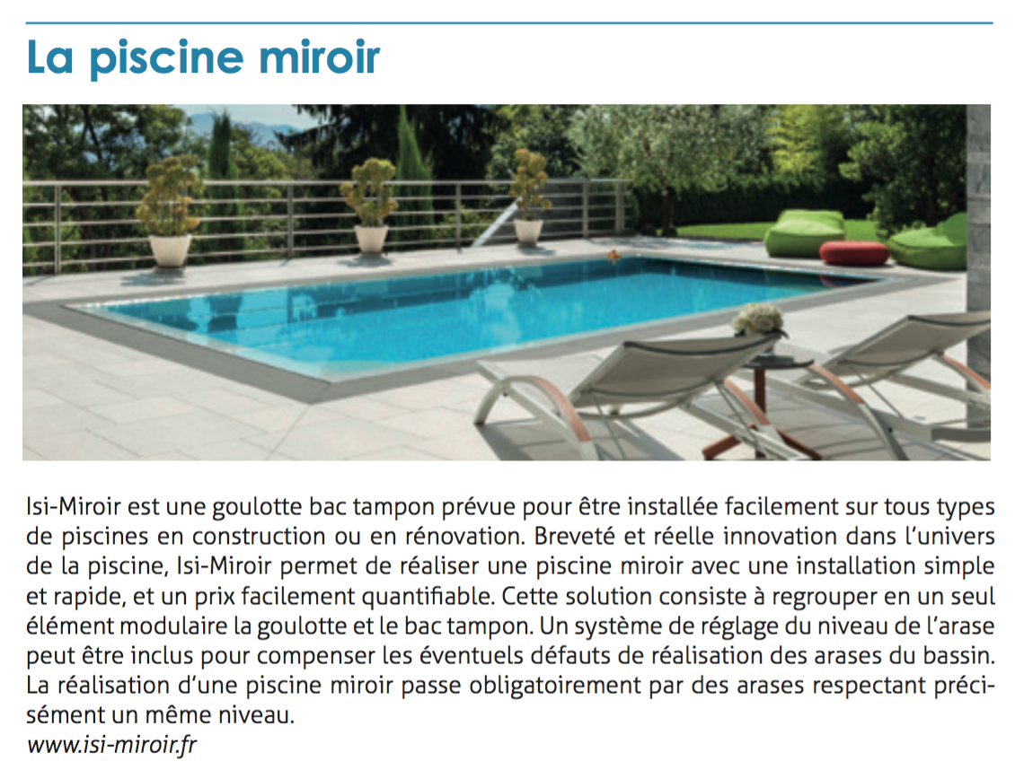 Piscine d bordement piscine miroir piscine effet miroir for Cout piscine a debordement